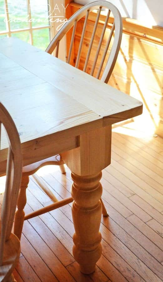 DIY Farmhouse Table | Learn how to make a DIY Farmhouse Table from NinaHendrick.com!