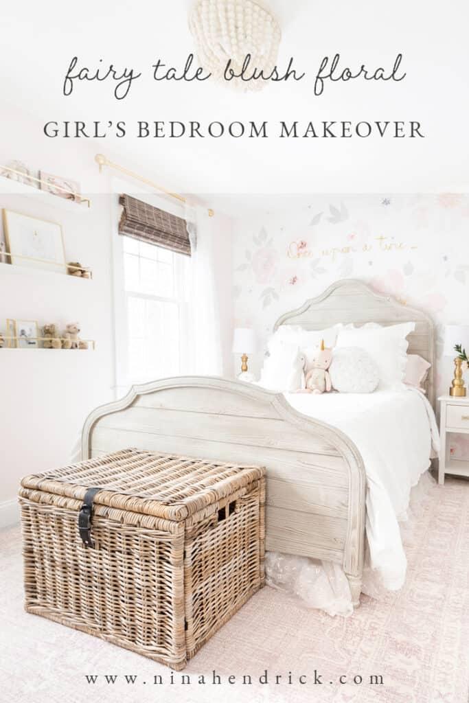 floral girl's bedroom makeover