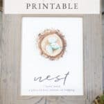 Free Nest Watercolor Printable.