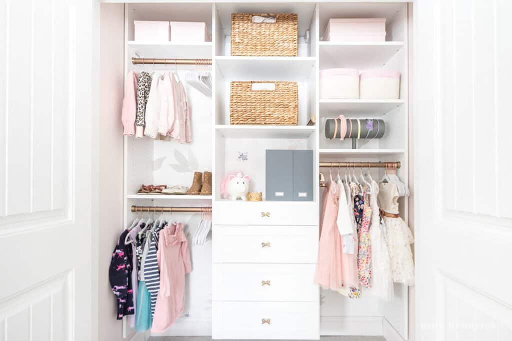 organized girl's closet makeover inspiration and ideas