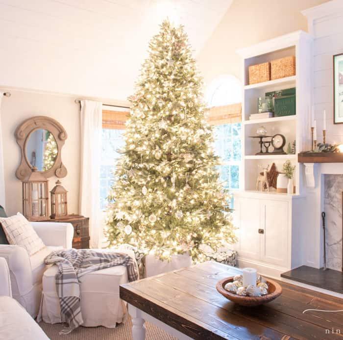 Green and Metallic Christmas Tree
