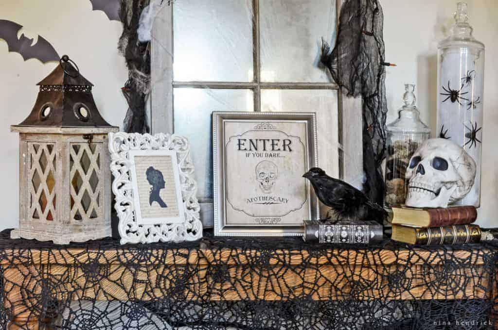 Foyer Decor vintage-inspired spooky halloween foyer decor inspiration