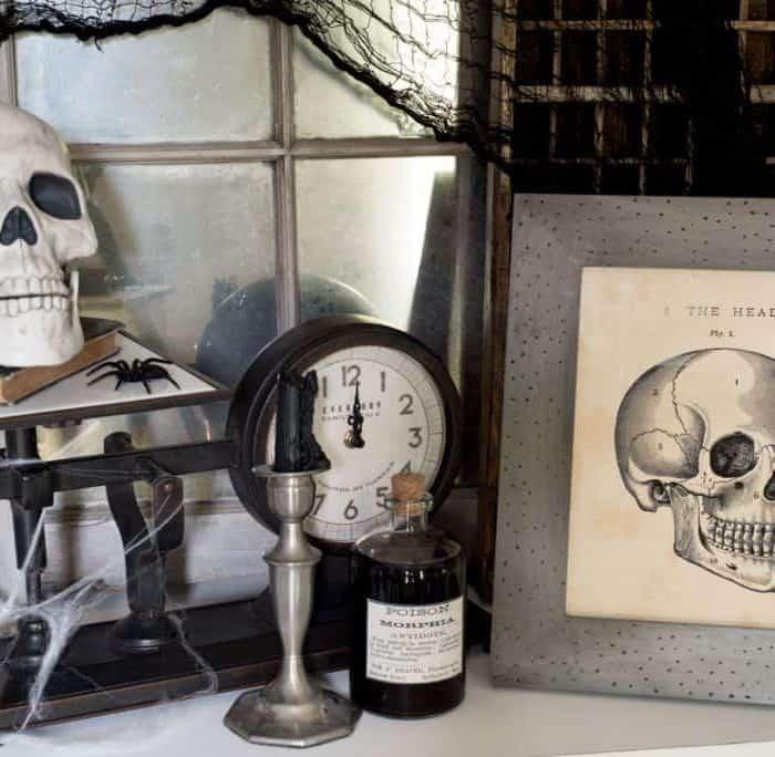 Halloween Foyer Vignette