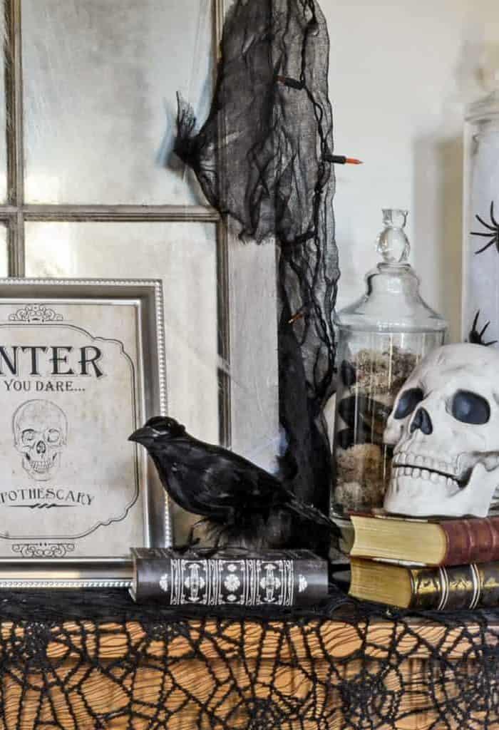 Spooky Foyer Decor