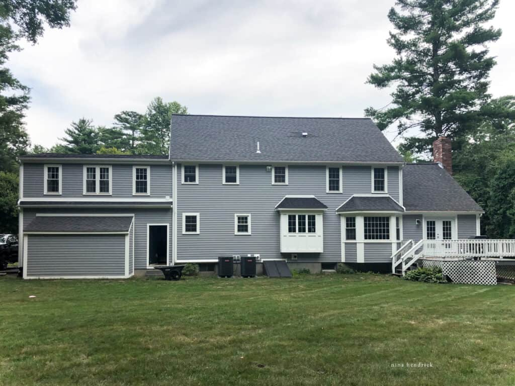 Home renovation goals, complete the back yard of our gray colonial