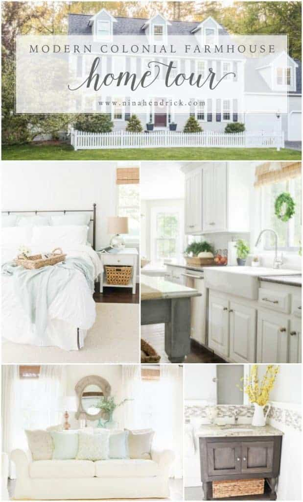 Modern Farmhouse Home Tour | Nina Hendrick Design Co. | Follow along as a 1980s colonial fixer upper gets a complete DIY makeover and is renovated to reflect modern farmhouse charm.