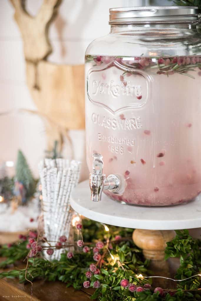 Christmas 2016 Nina Hendrick Holiday Housewalk | Pomegranate and Rosemary Infused Water