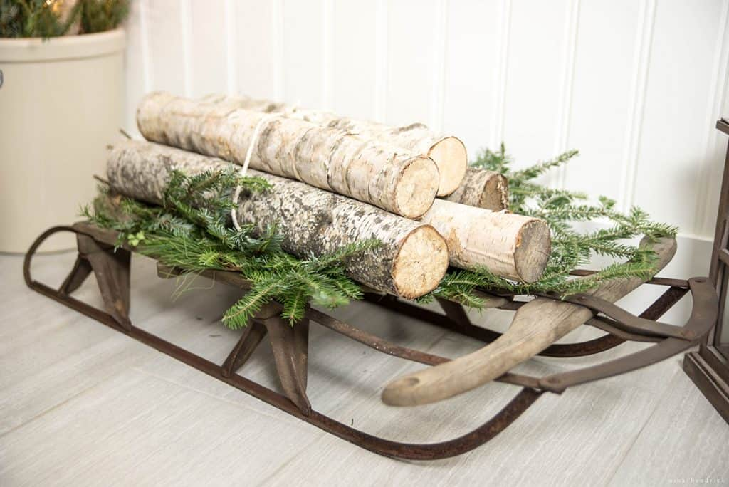 Christmas 2016 Nina Hendrick Holiday Housewalk | Sled with Birch