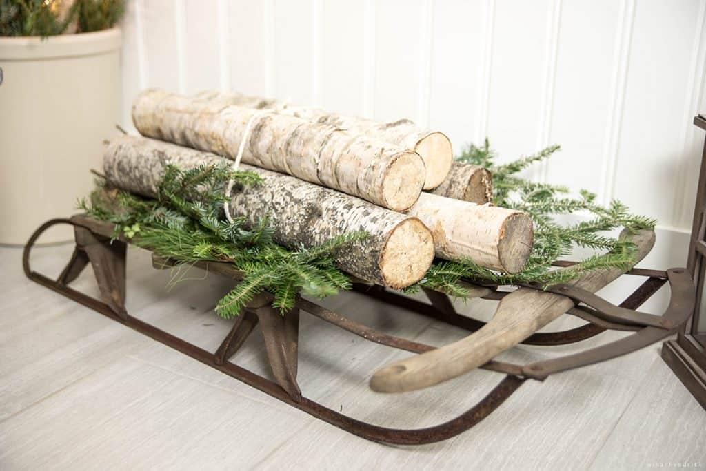 Christmas 2016 Nina Hendrick Holiday Housewalk | Sled with Birch