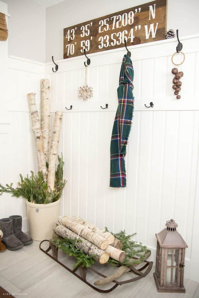 Christmas 2016 Nina Hendrick Holiday Housewalk | Christmas Mudroom