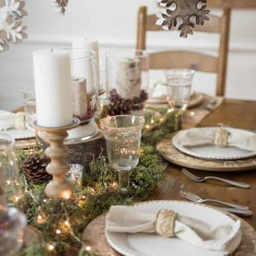 Christmas 2016 Nina Hendrick Holiday Housewalk | White and Wood Tablescape