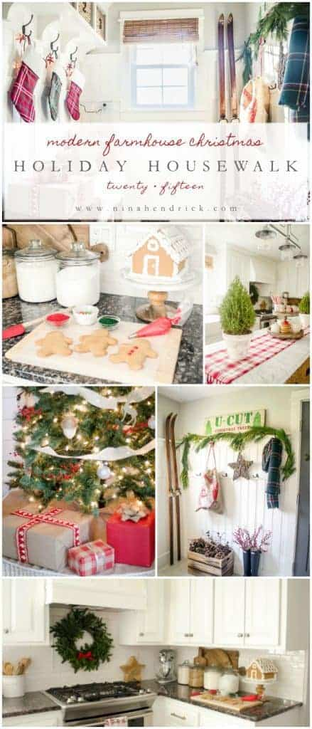 Holiday Housewalk 2015 | Classic and Rustic Modern Christmas Farmhouse: Gather inspiration from the Holiday Housewalk 2015 with a modern farmhouse decorated for Christmas using rustic and classic decor.