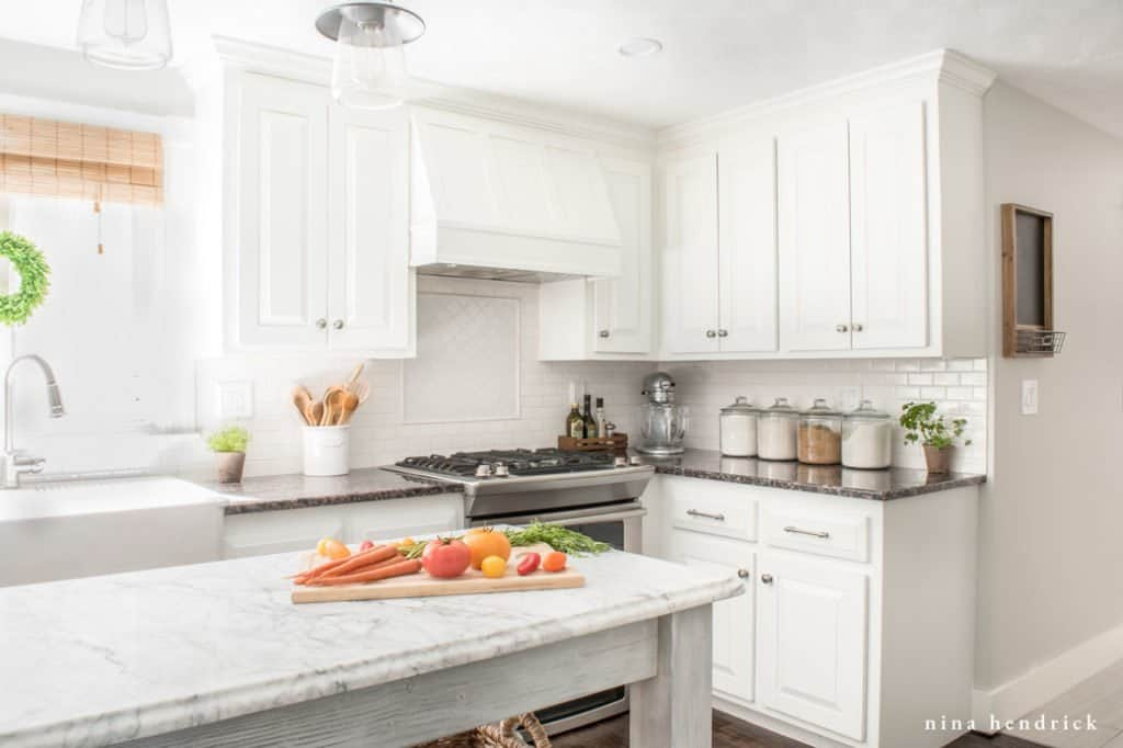 White Painted Kitchen Learn How To Paint Oak Cabinets And Hide The Grain Achieve