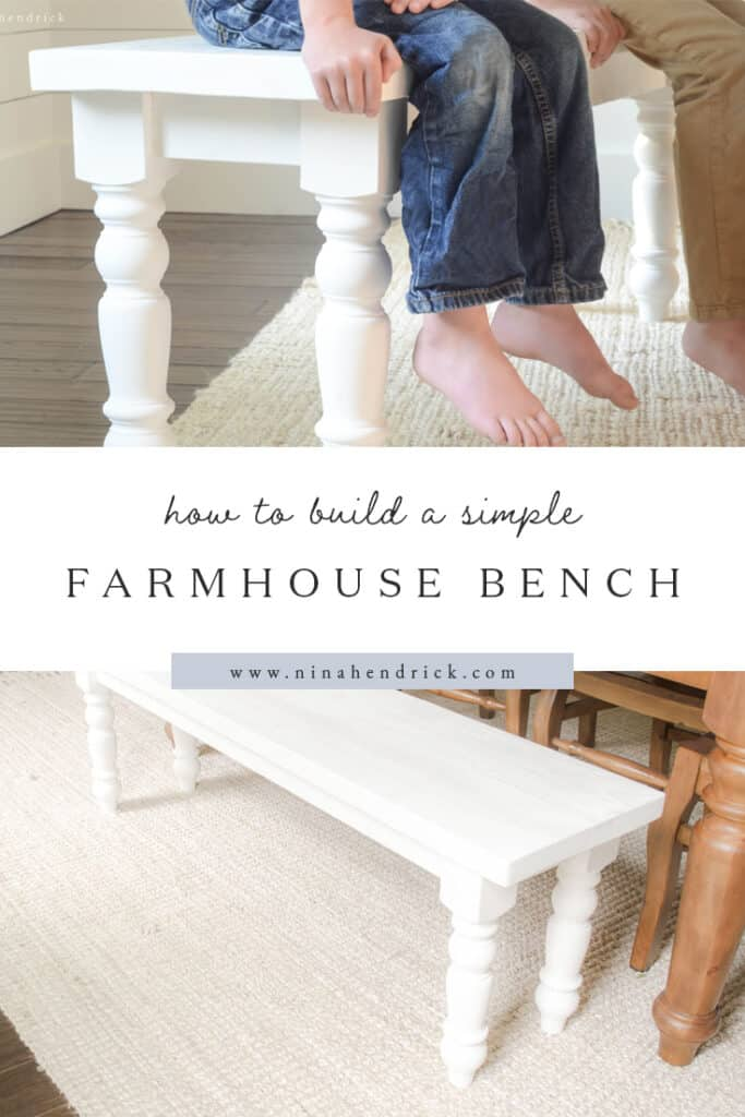 How to Build a Simple Farmhouse Bench Step-by-Step