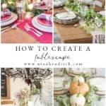 How to Create a Tablescape Collage of Spring, Summer, Fall, Christmas Tablescapes