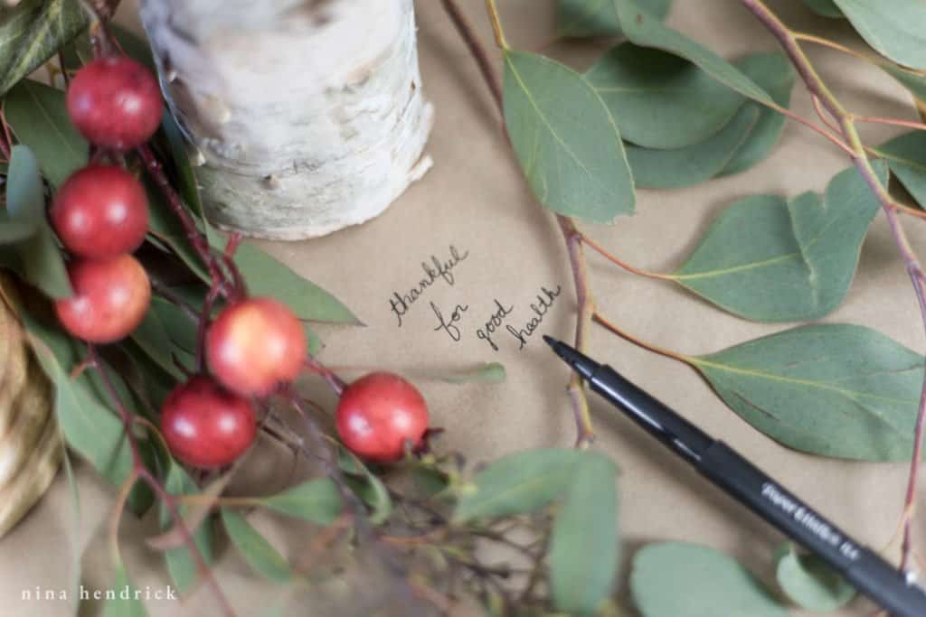 Learn how to create a tablescape and think off the beaten path for table runners, like using kraft paper that your guests can write on.