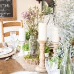 Find inspiration like this Irish-Inspired tablescape for how to create a tablescape.