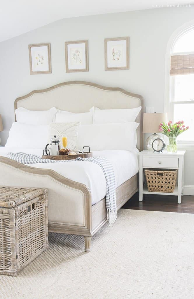 How to Find Your Decorating Style | Coastal Cottage Master Bedroom with natural touches.