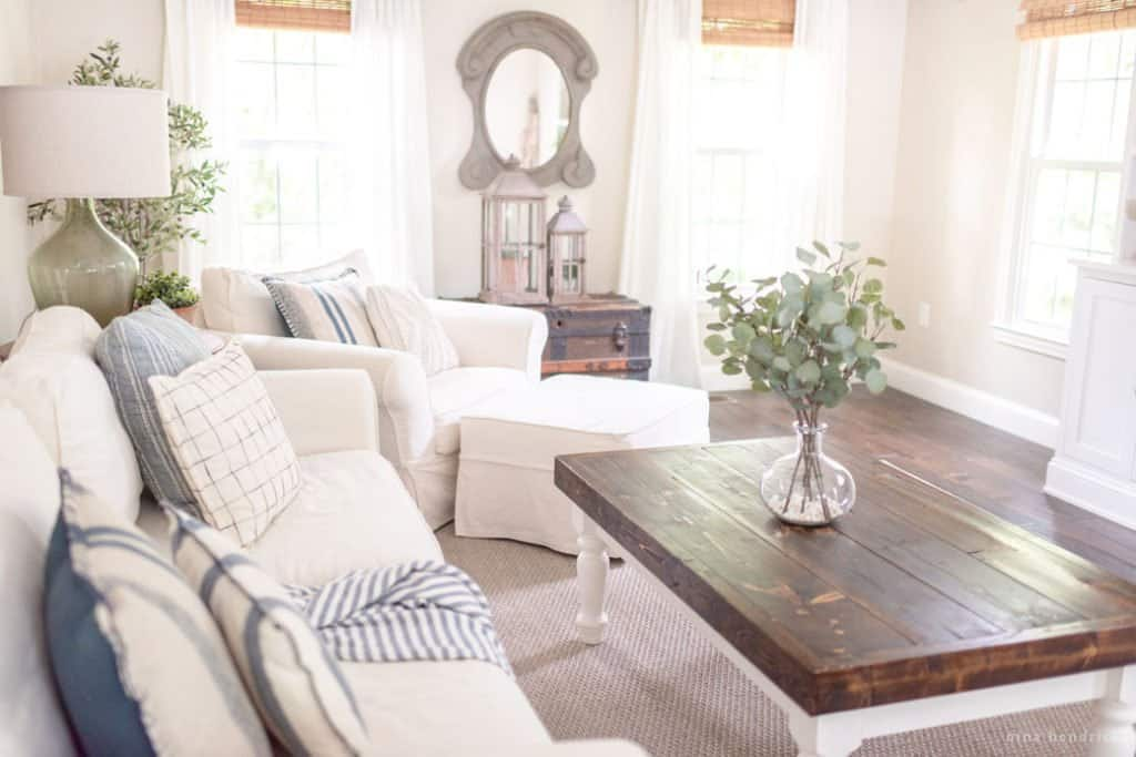 Cottage Style Neutral Family Room