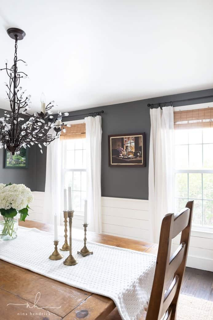 How to Find Your Decorating Style | Cottage-Style Contrasting Dining Room.