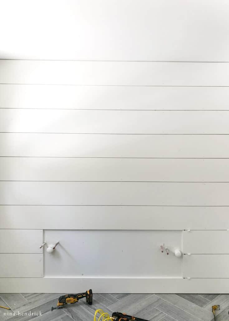 AZEK Shiplap Planked Wall