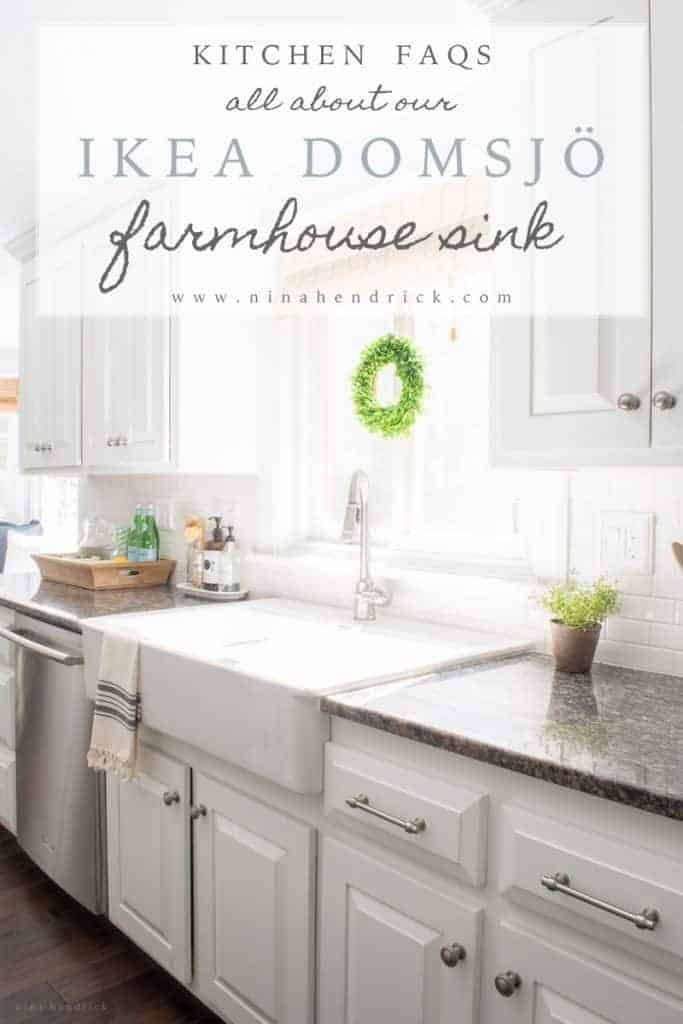 Interior Ikea Apron Front Sink ikea farmhouse sink review domsjo nina hendrick design co all about our sink