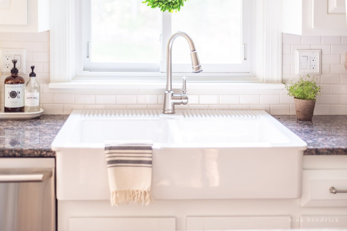Ikea Farmhouse Sink Review (Domsjo) | Nina Hendrick Design Co.