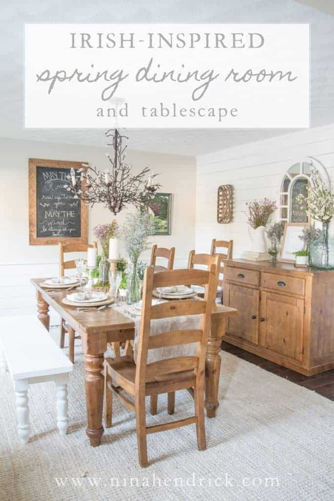Irish inspired dining room and tablescape nina hendrick for Design furniture replica ireland
