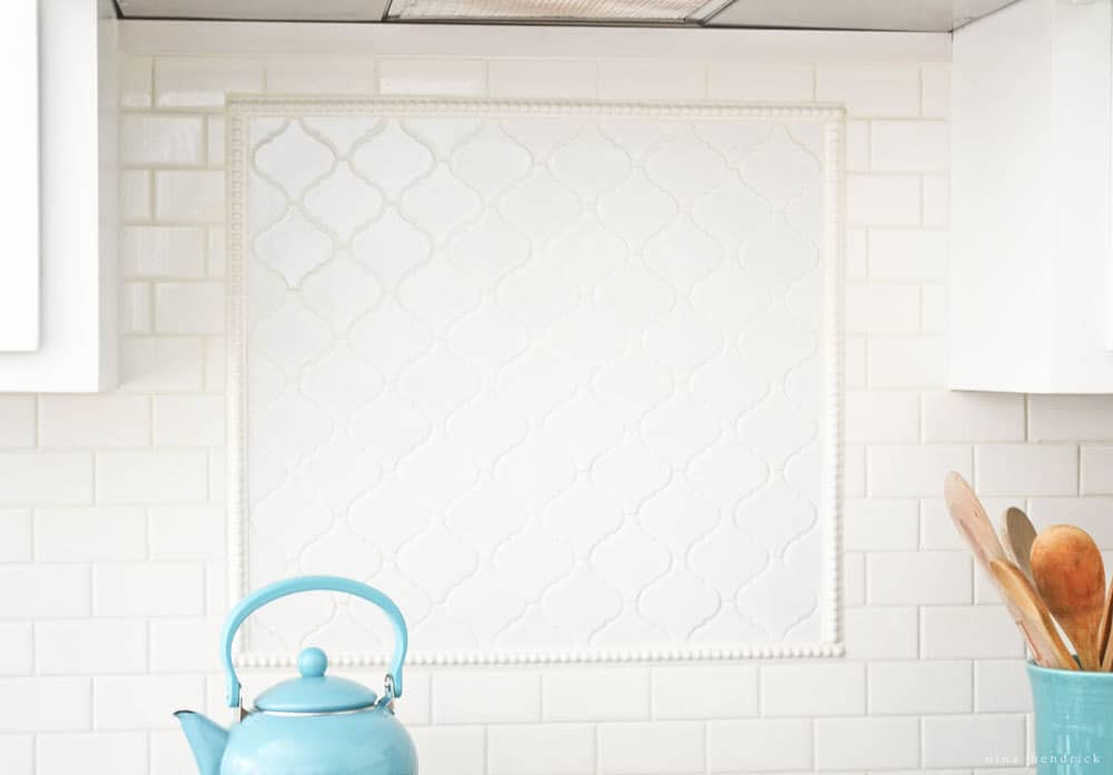 Arabesque Tile Backsplash Accent Tutorial Nina Hendrick Design Co