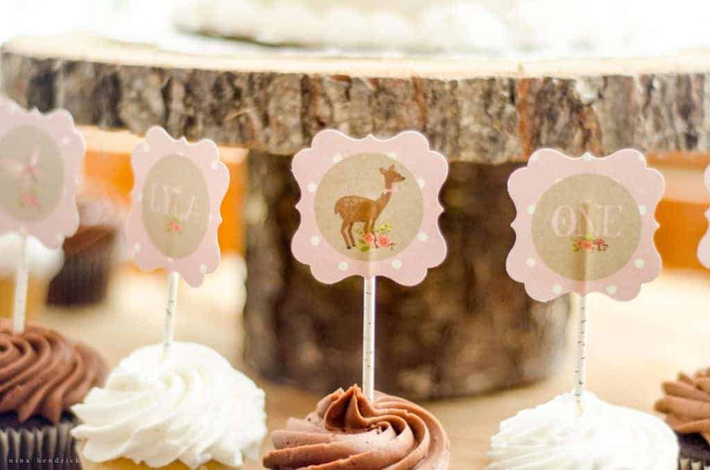 Gather inspiration from this sweet and simple woodland floral first birthday party. Inexpensive grocery store cake and flowers pair with handmade finds to create a unique event.