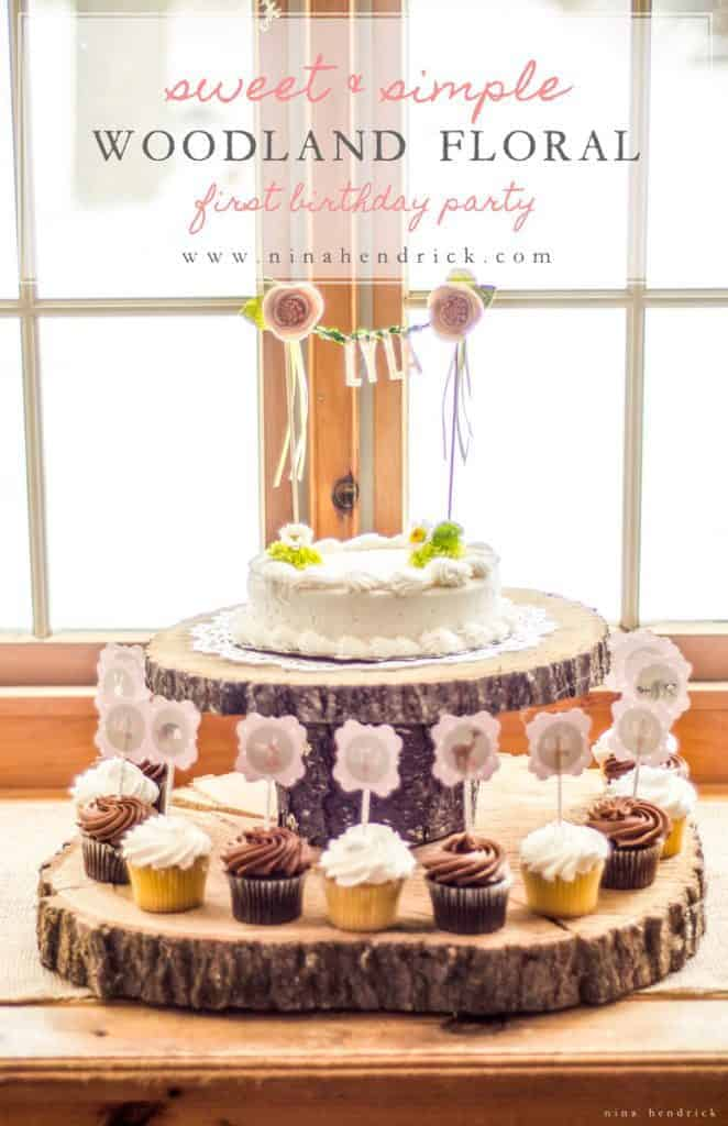 Sweet Simple Woodland Floral First Birthday Party