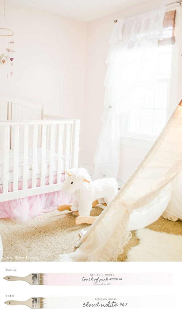 New England Farmhouse Neutral Paint Color Scheme The Perfect Pink For A Nursery