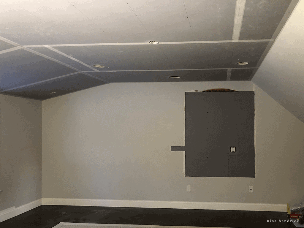 Primary Bedroom Project: walls are ready for fresh plaster