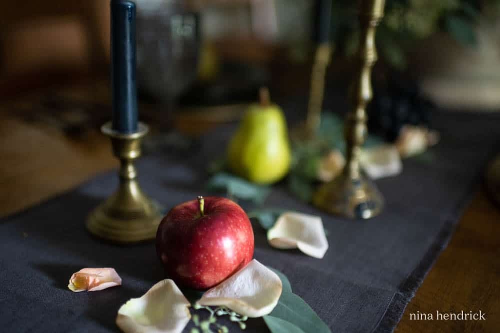 Still life inspired tablescape