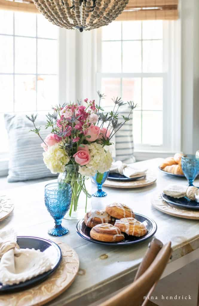 Bright dining room for Mother's Day Brunch