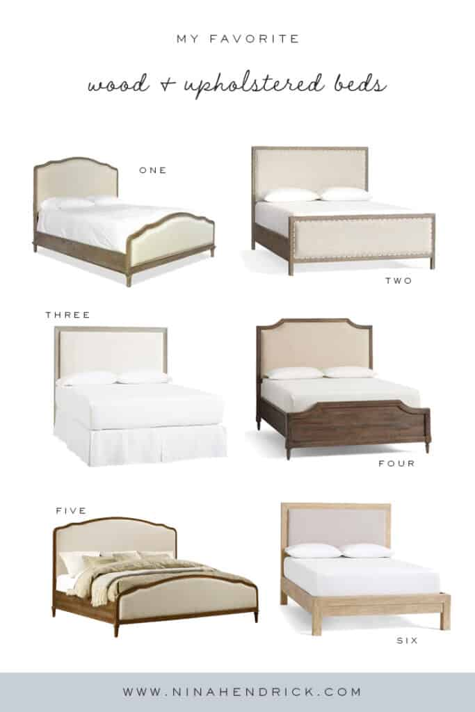 Six favorite wood and upholstered beds