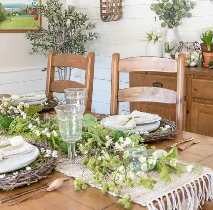 Natural Spring Tablescape