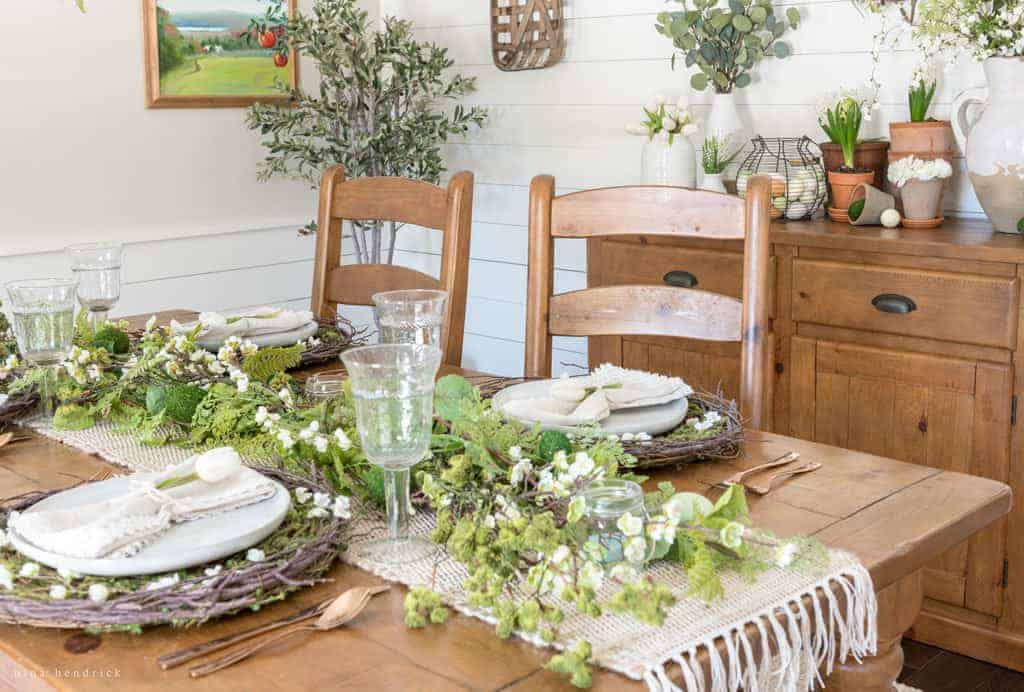 Perfect Natural Spring Tablescape
