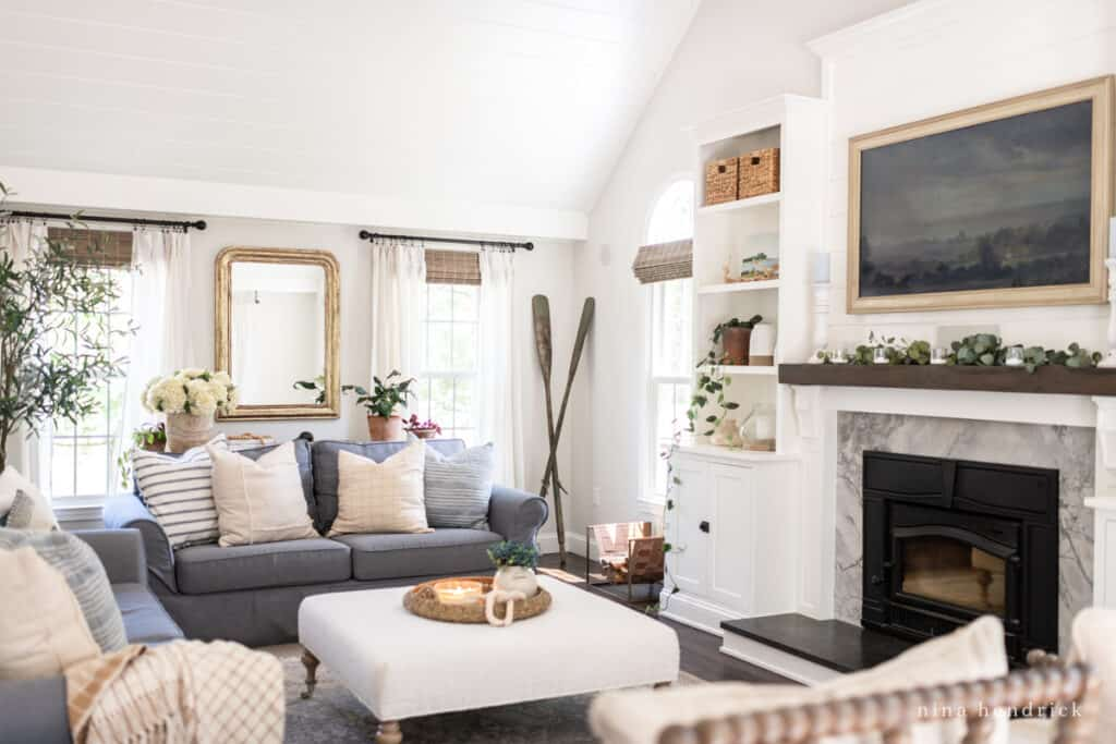 How to Makeover your family room with natural & neutral decor