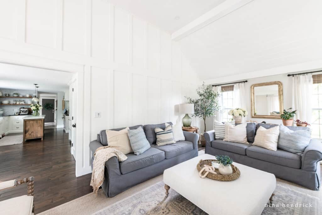 Natural & Neutral Family Room Makeover
