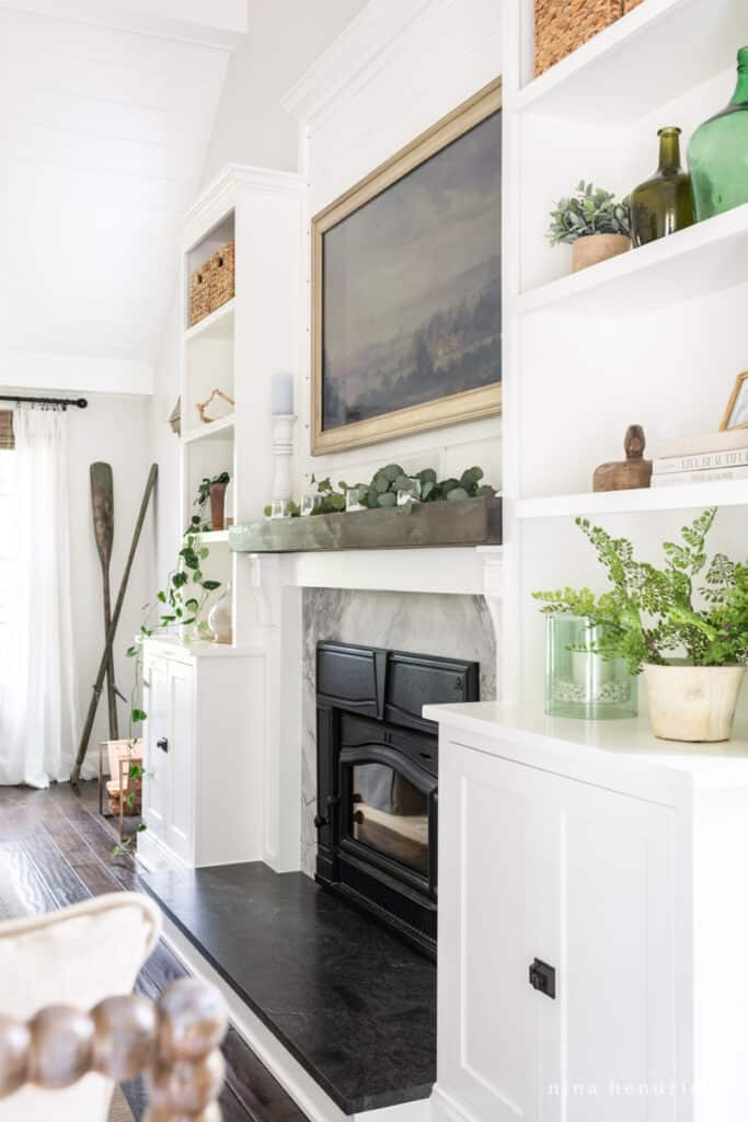 Fireplace with Frame TV