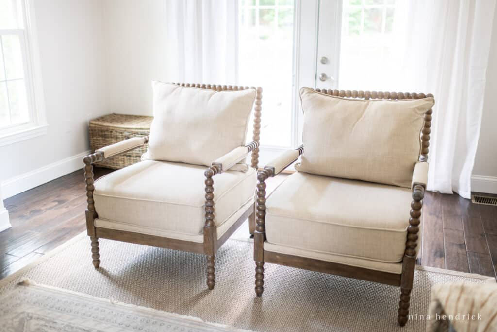 Neutral spindle chairs