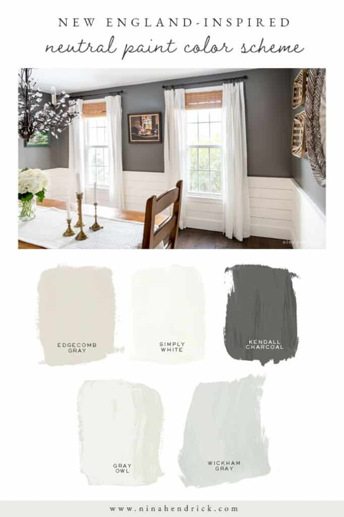 New England-Inspired Neutral Paint Color Scheme