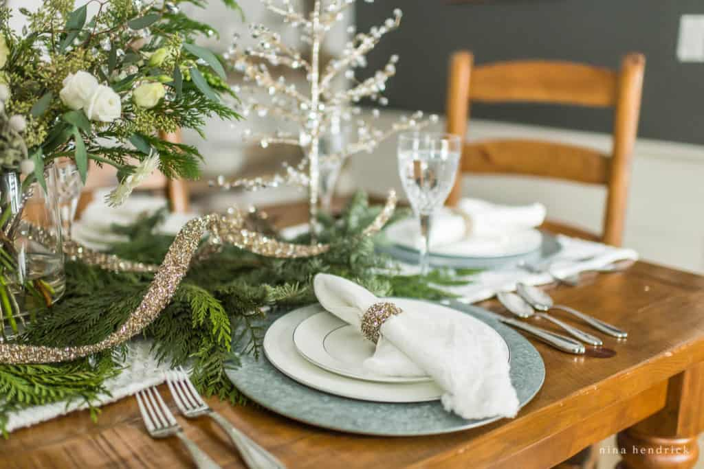 New Year's Eve Tablescape place setting
