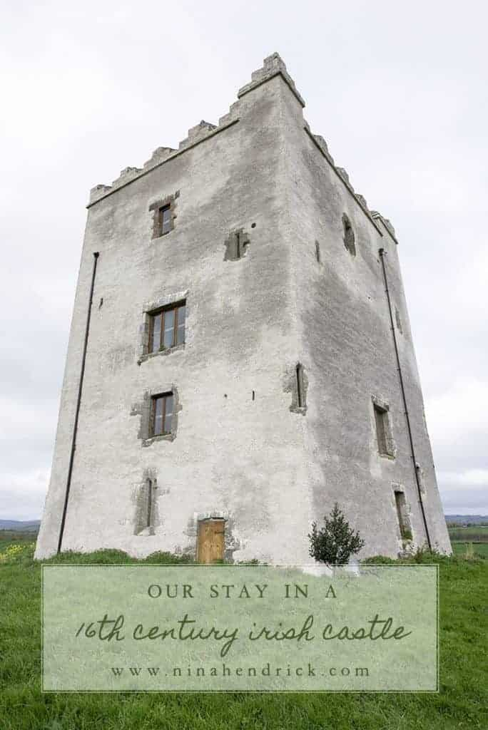 Our Stay in a 16th Century Irish Castle | Read about the experience of renting Killahara Castle in Tipperary, Ireland and tour a 16th century tower castle.