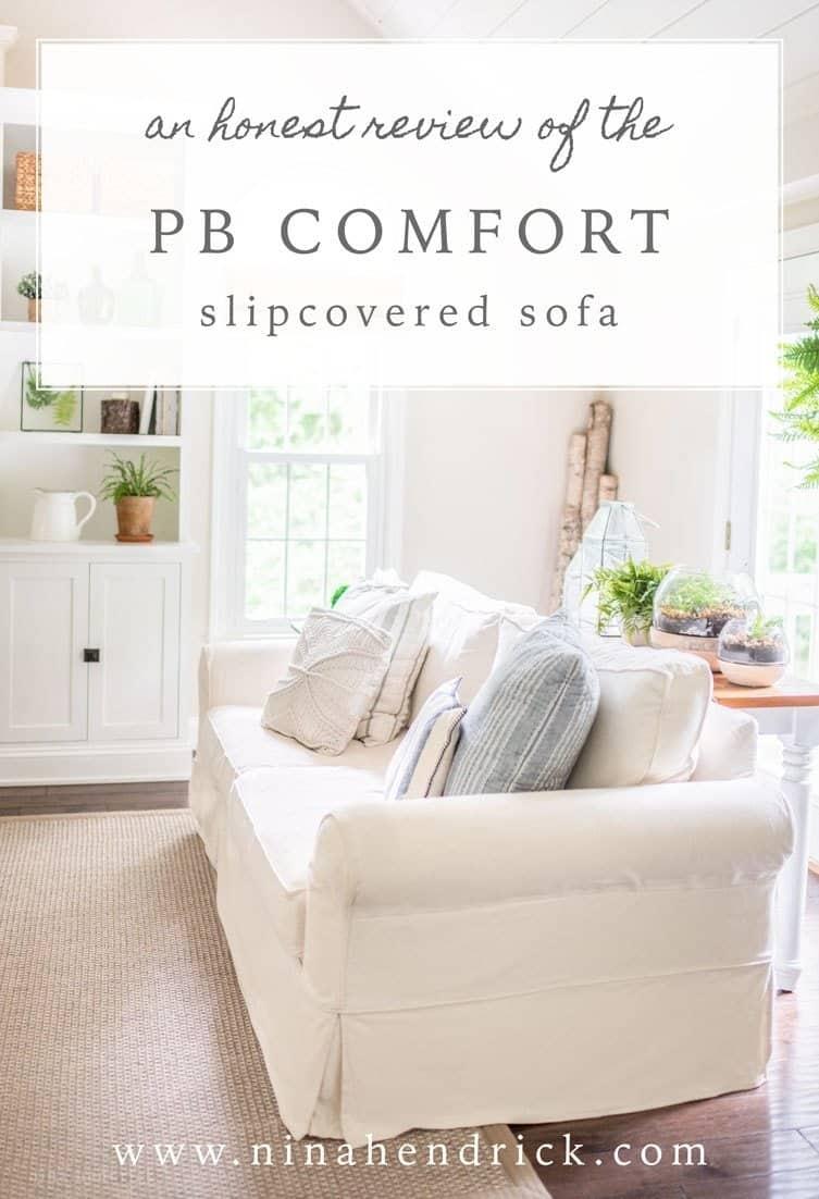 PB Comfort Slipcovered Sofa Review | Hereu0027s My Honest PB Comfort  Slipcovered Sofa Review. I