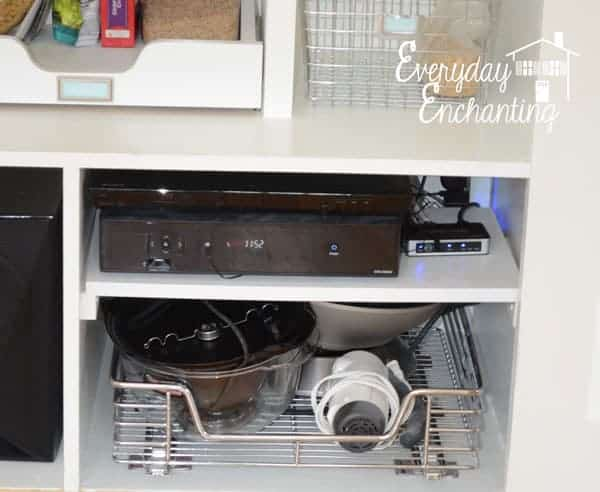 Good Idea - store baking and appliances in the pantry :: OrganizingMadeFun.com