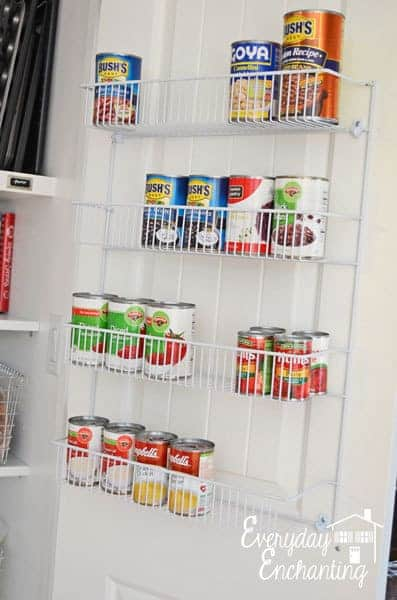 Good Idea - Use the back of the pantry door :: OrganizingMadeFun.com