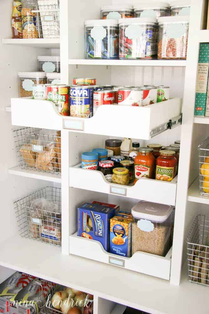 10 Tips for an Organized Pantry from @nina_hendrick | Tip 4: Utilize slide-out storage