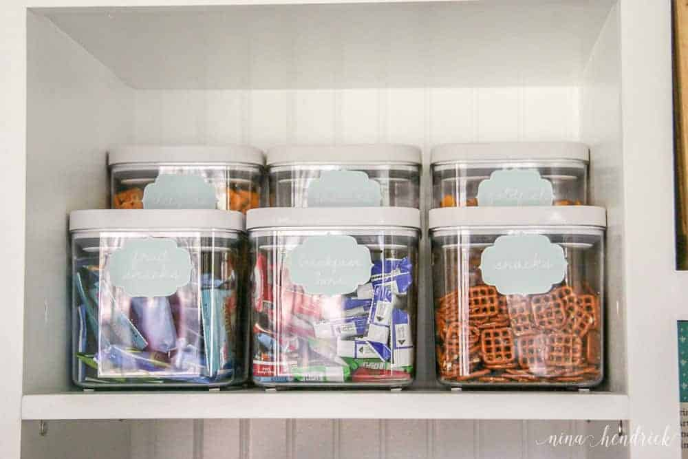 10 Tips for an Organized Pantry from @nina_hendrick | Tip 5: Decant items into clear containers